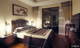 中式家庭设计时尚卧室效果图欣赏