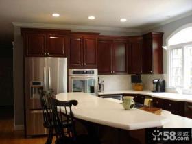 美式设计厨房橱柜欣赏图