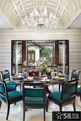 奢华浪漫的别墅餐厅装修效果图大全2014图片
