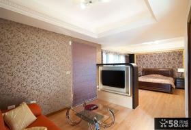 现代风格设计卧室电视背景墙效果图
