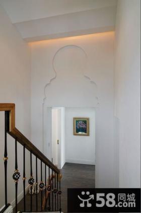 简欧风格室内复式楼梯图片