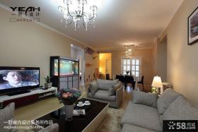 现代简约客厅电视柜背景墙效果图