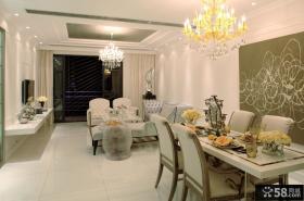 现代法式客厅餐厅装修设计图片