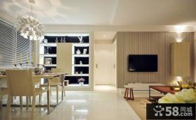 简约风格客厅与餐厅过道装修图片