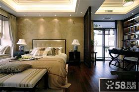中式风格卧室家居设计装修效果图