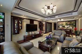 豪华美式客厅电视背景墙
