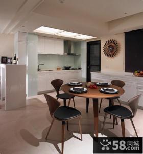 家庭开放式厨房餐厅一体装修设计