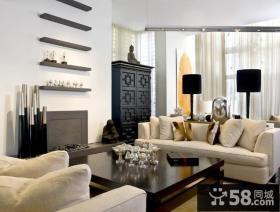 美式简欧风格客厅效果图