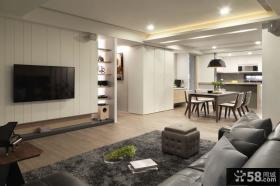 后现代12平米客厅电视背景墙