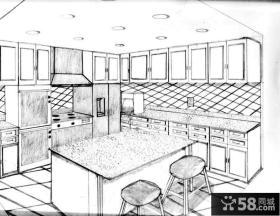 厨房设计平面图