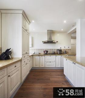 欧式风格整体厨房橱柜图片欣赏