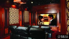 中式风格别墅家庭影院设计效果图