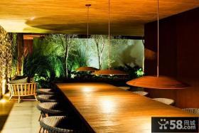 美式乡村别墅餐厅装修效果图大全2014图片