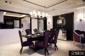 现代简欧餐厅吊顶效果图大全2013图片