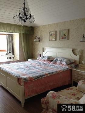 欧式田园风格90平米二居卧室挂画图片