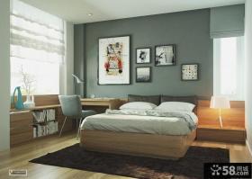 带书房卧室床头装饰画效果图