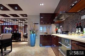 开放式厨房设计效果图大全2014