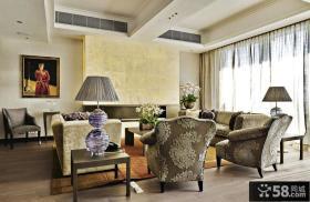 古典欧式居家客厅装修图片大全2014图片