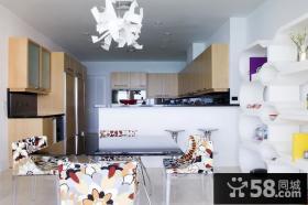 7万打造简约风格厨房橱柜装修效果图大全2014图片