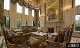 奢华古典欧式鎏金客厅装修