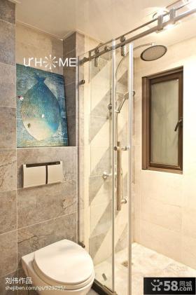 小户型卫生间瓷砖装修图片