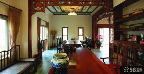 中式风格书房餐厅设计图片大全