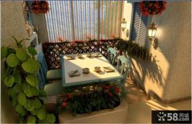 餐厅阳台装修效果图 田园风格阳台装修效果图