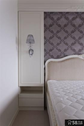 简欧风格卧室壁灯装修图片