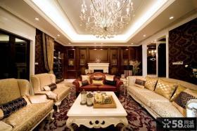 欧式风格别墅客厅吊顶装修效果图大全