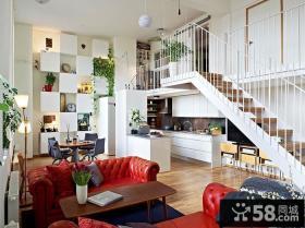80后倾情打造复式楼婚房客厅装修效果图大全