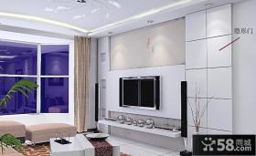 隐形门效果图 隐形门瓷砖电视背景墙