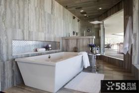 豪华大气的后现代风格装修效果图卫生间图片