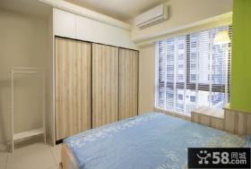 现代简约风格卧室窗户图