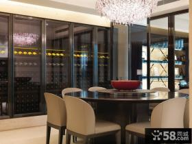 现代中式风格三居室餐厅装修效果图
