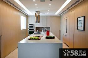 色彩明朗的复式楼厨房装修效果图大全2013图片