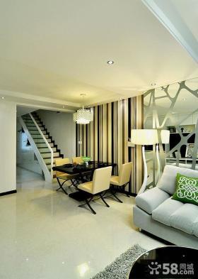 180平米简约风格复式房屋装修效果图