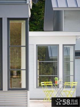 现代别墅外观窗户图片大全
