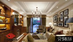 古典欧式小三居客厅吊顶效果图