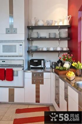 美式乡村别墅厨房橱柜装修效果图大全2012图片