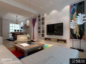 2013客厅电视背景墙装修设计图片