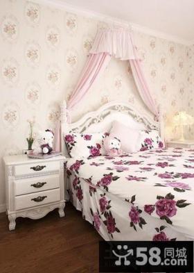 田园风格卧室壁纸装修效果图大全