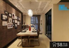 美式现代风格餐厅相片墙图大全欣赏