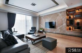 现代美式设计客厅电视背景墙