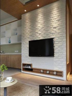 家居装修美式客厅电视背景墙图