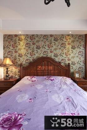 美式风格卧室墙纸装修效果图