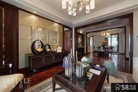 美式客厅玄关装修效果图大全2013图片