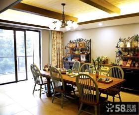 美式乡村风格家居餐厅设计效果图片