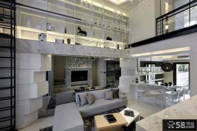 后现代风格客厅装修电视背景墙图片欣赏大全