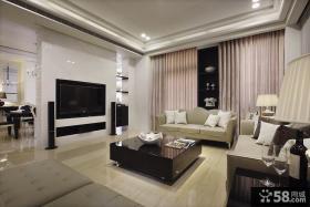 现代风格别墅客厅电视背景墙效果图大全