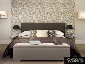现代简约卧室墙纸效果图